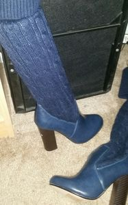 Leila stone knee high boots size 6